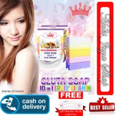 HOKI COD - Gluta Fruitamin Soap By Pretty White Thailand + Vitamin / Sabun Fruitamin ORIGINAL BPOM
