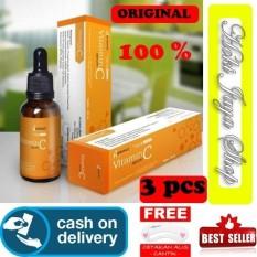 HOKI COD - Hanasui Serum Vitamin C + Collagen By Jaya Mandiri BPOM Serum Vit C Orange - 3 BOTOL + Gratis Cetak Alis Cantik - Premium