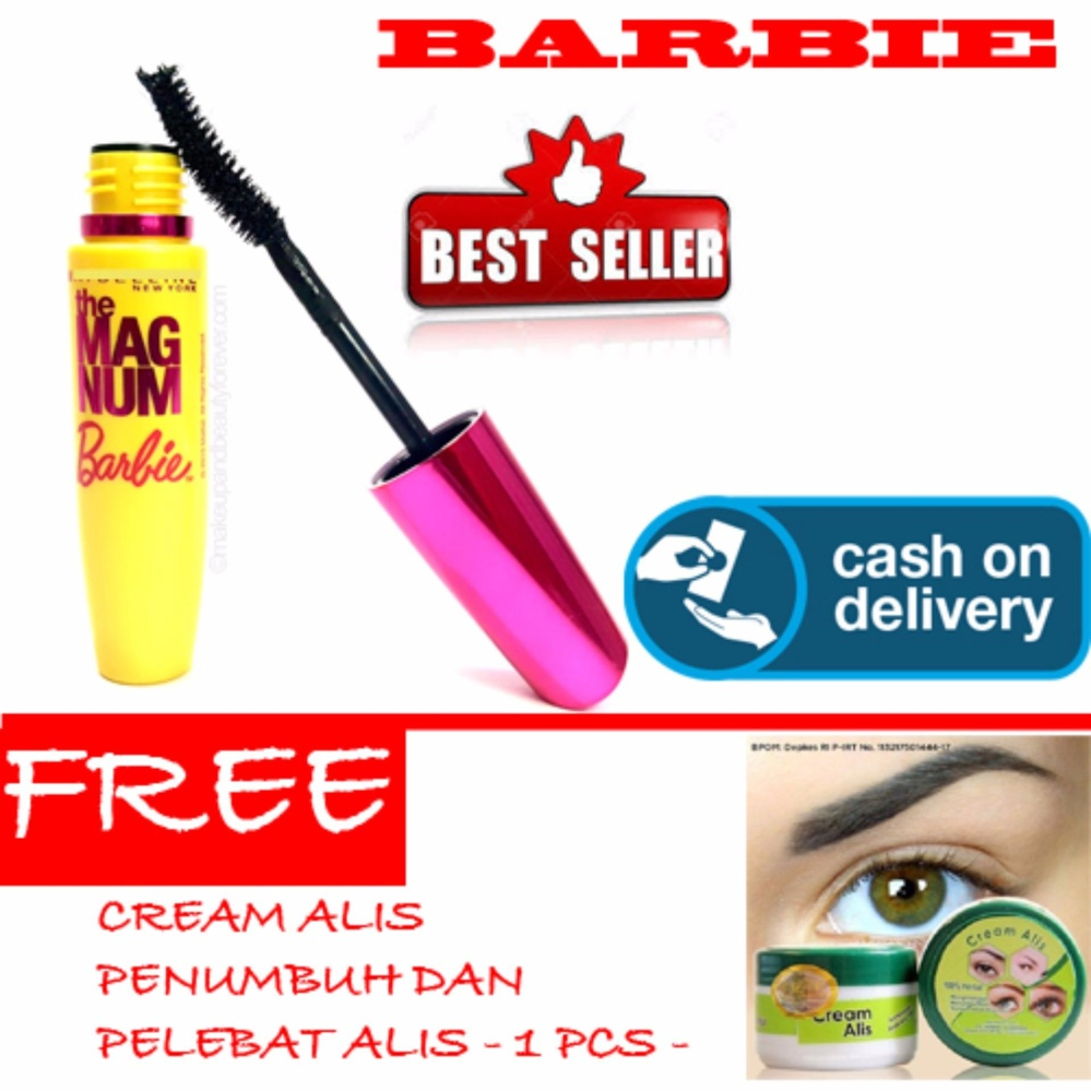 mascara bagus Premium HOKI COD - Mascara Magnum Barbie - Maskara Waterproof - Model Barbie Warna Hitam Premium Quality