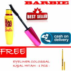 HOKI COD - Mascara Magnum Barbie - Maskara Waterproof - Model Barbie  Warna Hitam Premium Quality Top - 1 Pcs + Gratis Eyeliner Colossal Kajal Hitam Premium - Multi Model - 1 Pcs