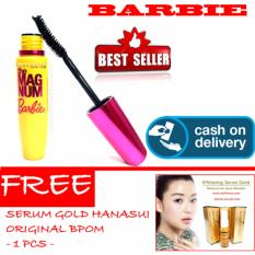 HOKI COD - Mascara Magnum Barbie - Maskara Waterproof - Model Barbie  Warna Hitam Premium Quality Top - 1 Pcs + Gratis Serum Gold Hanasui Collagen BPOM Original - 1 Pcs