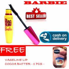 HOKI COD - Mascara Magnum Barbie - Maskara Waterproof - Model Barbie  Warna Hitam Premium Quality Top - 1 Pcs + Gratis Vaseline Lip Cocoa Butter Kualitas Bagus - 1 Pcs