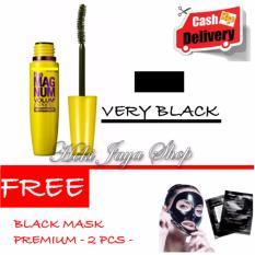 HOKI COD - Mascara The Fals Lash Volume Express - Maskara Waterproof - Model KUNING  Warna Hitam Premium Quality + Gratis Black Mask Masker Hitam Premium - 2 Pcs