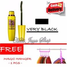 HOKI COD - Mascara The Fals Lash Volume Express - Maskara Waterproof - Model KUNING  Warna Hitam Premium Quality + Gratis Magic Hanger Gantungan Baju Serba Guna - 1 Pcs