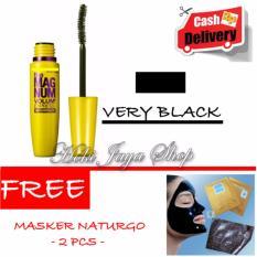 HOKI COD - Mascara The Fals Lash Volume Express - Maskara Waterproof - Model KUNING  Warna Hitam Premium Quality + Gratis Masker Naturgo Import Peel Off - 2 Pcs