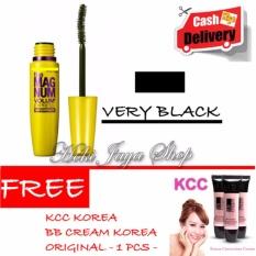 HOKI COD - Mascara The Fals Lash Volume Express - Maskara Waterproof - Model KUNING  Warna Hitam Premium Quality Top - 1 Pcs + Gratis KCC Korea BB Cream Korea Original - 1 Pcs
