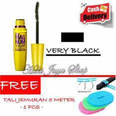 HOKI COD - Mascara The Fals Lash Volume Express - Maskara Waterproof - Model KUNING  Warna Hitam Premium Quality Top - 1 Pcs + Gratis Tali Jemuran 5 Meter Dengan Kawat - 1 Pcs
