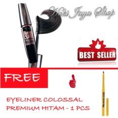 HOKI COD -  Mascara Waterproof - Maskara Hitam - 1 Pcs FREE Eyeliner Spidol Colossal Premium Hitam - Multi Model - 1 Pcs