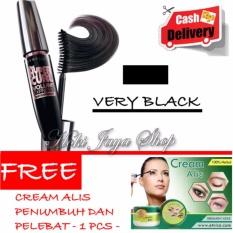 HOKI COD -  Mascara Waterproof - Maskara Hitam Quality Premium - 1 Pcs + Gratis Cream Alis Penumbuh Dan Pelebat Alis Mata - 1 Pcs