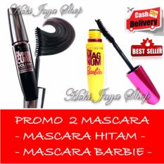 HOKI COD -  Mascara Waterproof - Maskara Hitam Quality Premium - 1 Pcs + Gratis Mascara Kuning Barbie Kualitas Bagus - 1 Pcs