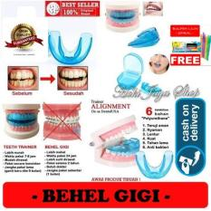 HOKI COD - Orthodentic Retainer Teeth Trainer Allignment USA / Behel Gigi Original Import - Perapih Gigi - 1 Pcs + Gratis Pulpen Lilin Unik Serba Guna Hitam Pekat - 3 Pcs
