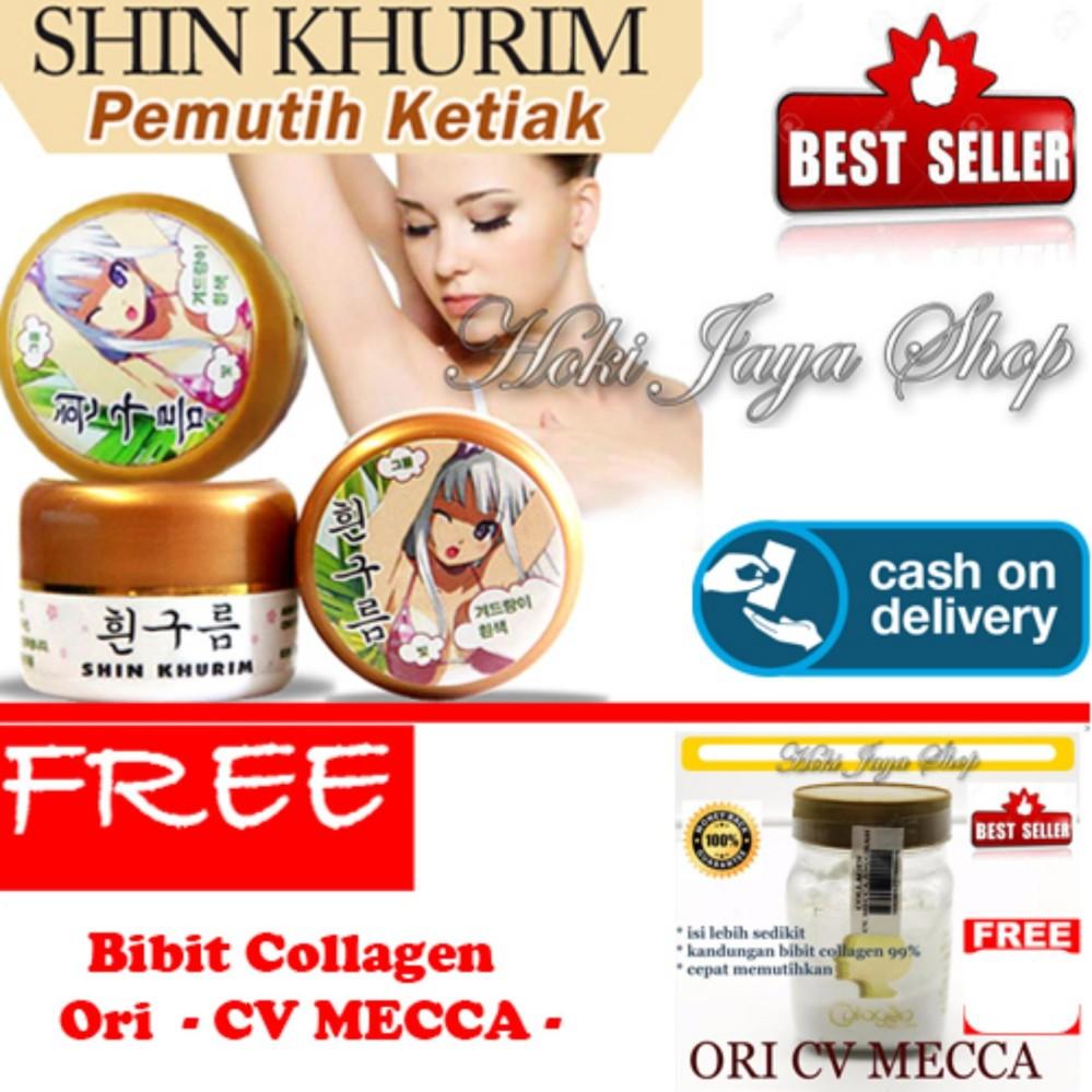 ... HOKI COD - Shin Khurim Pemutih Ketiak dan Selangkangan Premium - 1 Pcs + Gratis Bibit