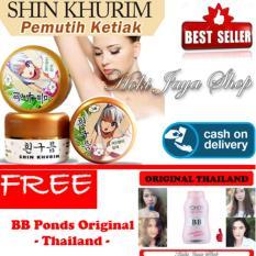 HOKI COD  - Shin Khurim  Pemutih Ketiak dan Selangkangan Premium - 1 Pcs + Gratis Ponds BB Magic Powder 100% Original Thailand - Bedak BB Ponds - Bedak Glossy