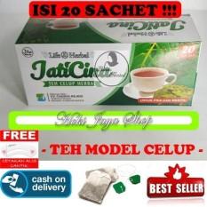HOKI COD - Teh Daun Jati Cina Celup Herbal Penghancur Lemak Dan Diet Alami Original Premium - 1 Paket Isi 20 Teh Celup + Gratis Cetak Alis Cantik - Premium
