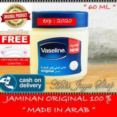 HOKI COD - Vaseline 60ml Petroleum Jelly Asli Murni 100{55e037da9a70d2f692182bf73e9ad7c46940d20c7297ef2687c837f7bdb7b002} Original Arab - 1 Pcs + Gratis Cetak Alis Cantik - Premium
