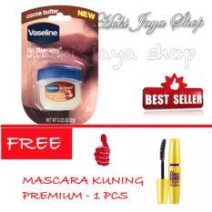 HOKI COD - Vaseline Lip Therapy Cocoa Butter Therapy Premium - 7Gr FREE Mascara Kuning Magnum Premium - 1 Pcs