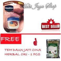 HOKI COD - Vaseline Lip Therapy Cocoa Butter Therapy Premium - 7Gr FREE Teh Daun Jati Cina Herbal Original - 1 Pcs