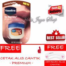 HOKI COD - Vaseline Lip Therapy Cocoa Butter Therapy Premium - 7Gr + Gratis Cetak Alis Cantik Premium
