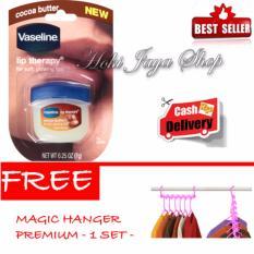 HOKI COD - Vaseline Lip Therapy Cocoa Butter Therapy Premium - 7Gr + Gratis Magic Hanger Gantungan Baju Serba Guna - 1 Set