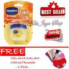 HOKI COD - Vaseline Lip Therapy Creme Brulee Therapy Premium - 7gr - 1 Pcs + Gratis Celana Dalam Menstruasi Anti Bocor Premium - 1 Pcs