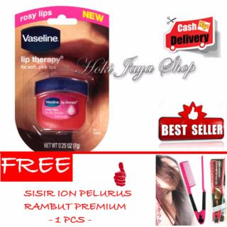 HOKI COD - Vaseline Lip Therapy Rosy Lips Premium Therapy - 1 Pcs + Gratis Sisir Ion Pelurus Rambut Premium - 1 Pcs thumbnail