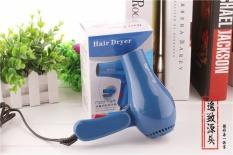 Rumah Tangga Folding Hair Dryer Pengering Rambut, Travel Hadiah Bisnis Mini Pengering Rambut (biru)-Intl