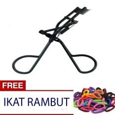 Icantiq (FREE ikat rambut  Polos ) Eyelash Curler Penjepit Bulu Mata Pelentik Bulu mata  Pelentik Bulumata - Hitam