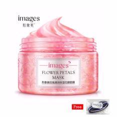 Images Flower Petals Mask Original Korea 120Gr - Rose + Free Polkadope Ikat Rambut - 1 Pcs