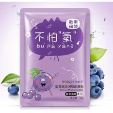 Images Masker Wajah Blueberry / Face Mask Blueberry - 1 Pcs