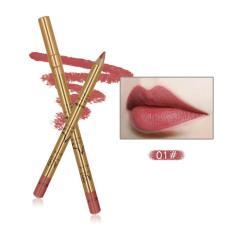 Imagic 9 Gaya Lipliner Pensil Emas Tabung Penggaris Bibir Kontur Pulpen Riasan Bibir LP210-Internasional