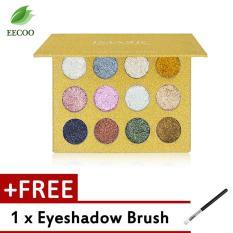 Harga Imagic Palet Eyeshadow Glitter 12 Warna Unik Beli 1 Gratis 1 Puff Paling Murah