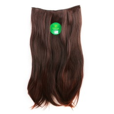 Instaclip Hairclip Straight Darkbrown 60 cm / Hair clip klip Lurus Korea Coklat Tua Big Layer Full head