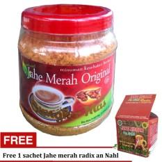 Jahe Merah Original Cangkir Mas -1 toples + Free 1 sachet jahe merah Radix An