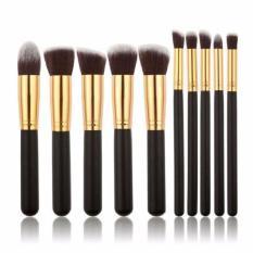 Jual Jbs 10Pcs Mini Makeup Brush Set Cosmetic Blending Pencil Brushes Gold Black Intl Murah Dki Jakarta
