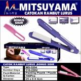 Review Terbaik Jbs Catokan Mitsuyama 5204 Catok Rambut Lurus Free Sisir Rambut Random