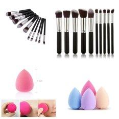 JBS Kuas Makeup Brush Set Cosmetic Blending Pencil Brushes - 10 Pcs - Spon Make Up - Spon Beauty Blender Random