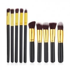 Kualitas Jbs Kuas Makeup Brush Set Cosmetic Blending Pencil Brushes Gold 10 Pcs Jbs