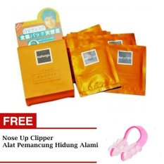 JBS Naturgo Masker Lumpur - 10 Pcs + Gratis Nose Up Clipper - Alat Pemancung Hidung Alami