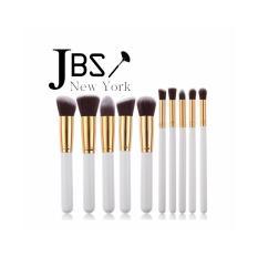JBS New York makeup brush / Kuas makeup brush set / little foundation brush gold white / kuas makeup jbs isi 10 / K - 011