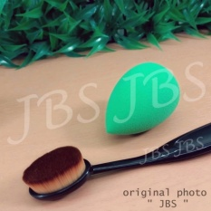 JBS Paket Kuas - Oval Brush / Kuas Make Up Oval Brush / Oval Foundation Brush / Kuas Make Up And Sp