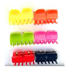 Jepit Salon Mini isi 12 - Jepitan Rambut Warna Warni - Mini Hair Clip