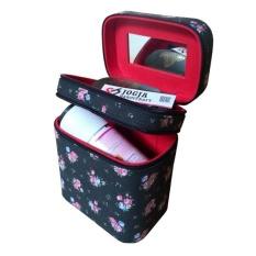Jogja Craft Black Floral Tas Kosmetik / Tempat Makup / Beauty Case / Box Make Up