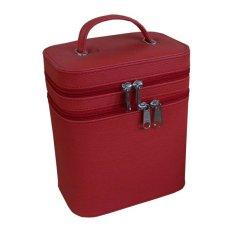 Jogja Craft Box Make Up / Kotak Make Up Beauty Case - Merah