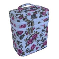 Jogja Craft Box Make Up / Kotak Make Up / Tempat Make Up / Beauty Case Bunga Putih