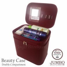 Jogja Craft - JUMBO Size Makeup Pouch / Beaty Case / Tas Kosmetik Susun Size Jumbo [MAROON]