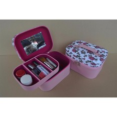 Jogja Craft NYB023WFL Traveller Make Up Pouch - Kotak Tempat Kosmetik (Pink)