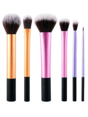 Model Jollychic Teknik Makeup Brush Set Contour Foundation Crease Sikat Rambut Lembut 6 Pcs Intl Terbaru