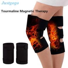 Justggoo-Tourmaline 1 Pair Self-heating Terapi Magnetik Lutut Pelindung Sabuk Arthritis Brace Penopang-Intl