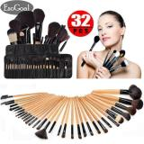 Jvgood Professional 32Pcs Makeup Brushes Kit Cosmetic Make Up Tool Set With Pouch Bag Tiongkok Diskon
