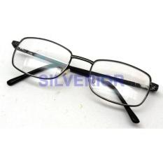 Kacamata Membaca Dua Lensa Plus 2 Double Lens Baca Dan Normal Logam